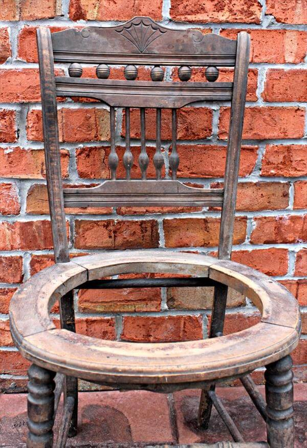 reclaimed old chair drink stand