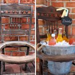 diy repurposed old chair drink stand