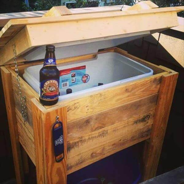diy recycled out door cooler design idea