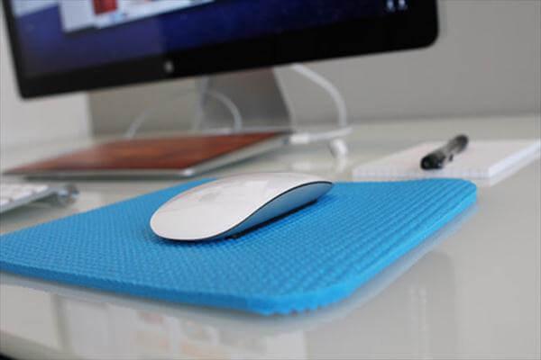 diy yoga mat cut mouse pad