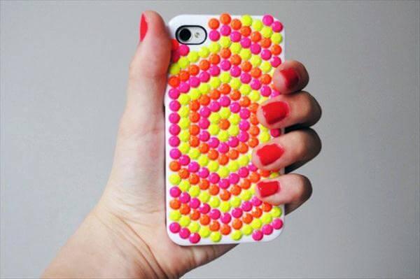 stunning Neon studded phone case