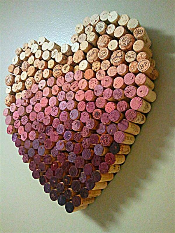 recycled cork love wall art