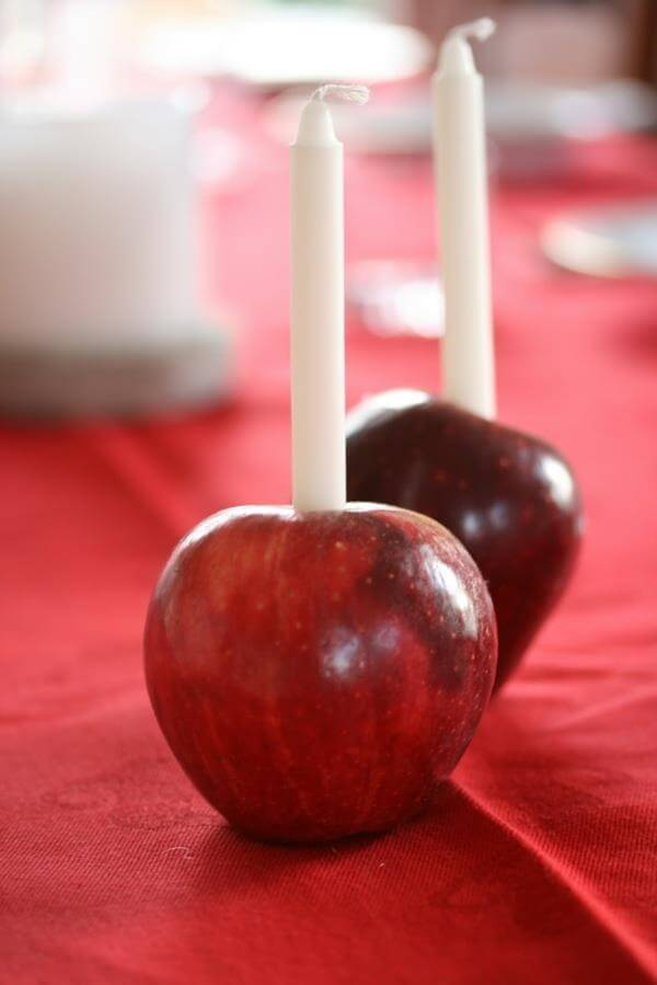 diy fresh apple candles design