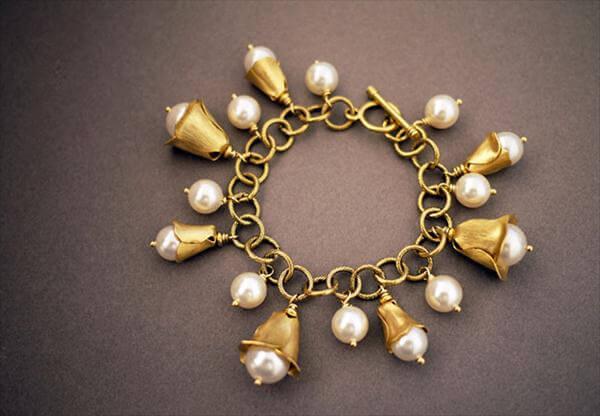 metal chain chandelier charm bracelet
