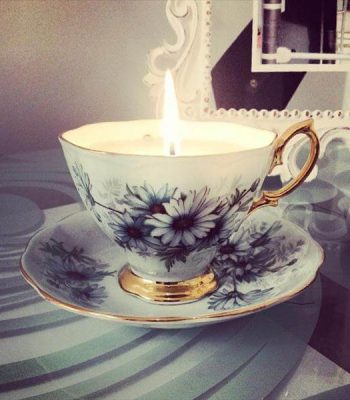 super easy coffee cup candle
