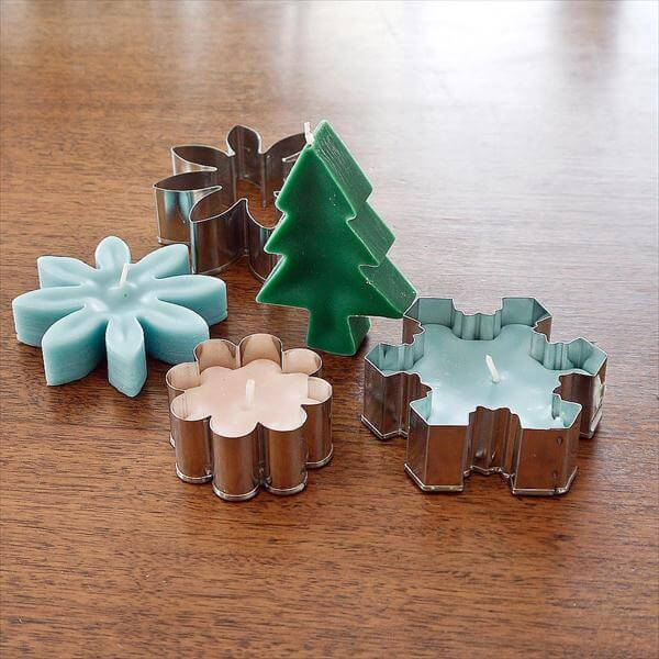 handmade cookie cutter candles