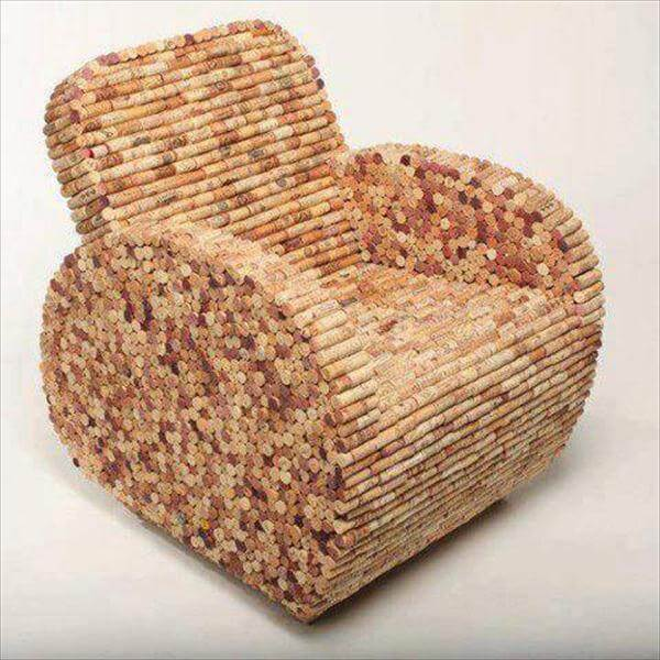 creative cork chair cover