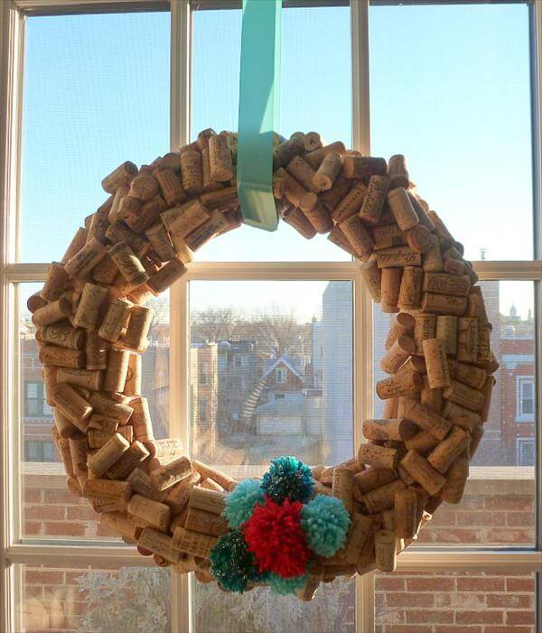diy cork decorative spring wreath