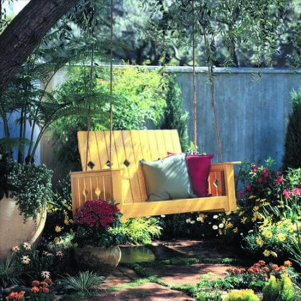 creative garden swing project
