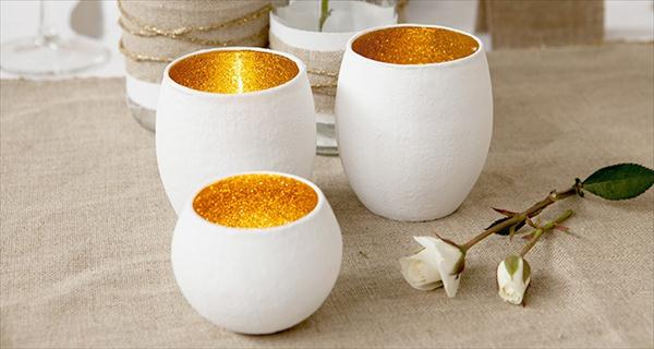 cool glitter and glass candles