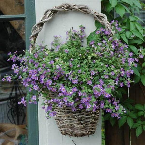 diy beautiful wooden hanging basket