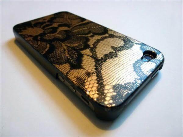handmade lace phone case