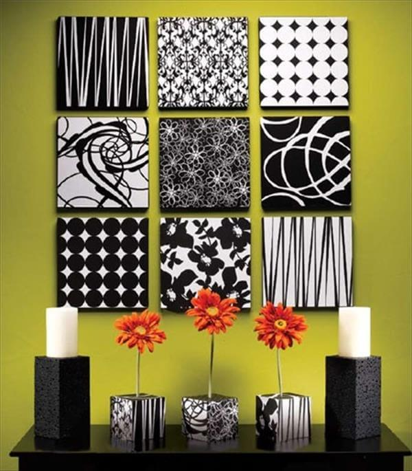 diy wall recycled decorating idea