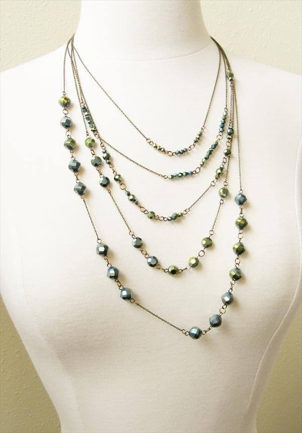 diy recycled bead necklace
