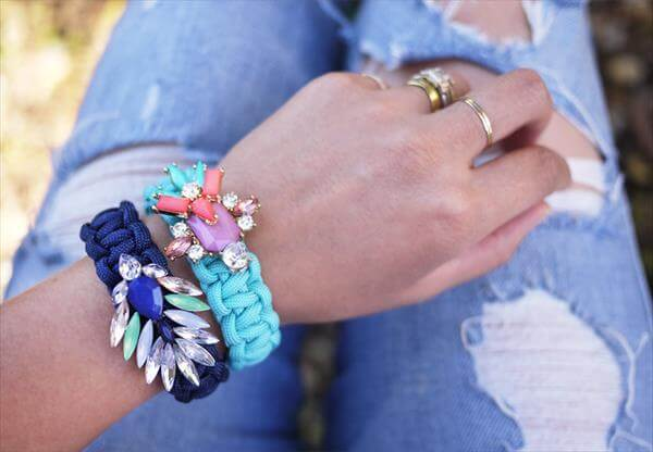 diy recycled bracelet