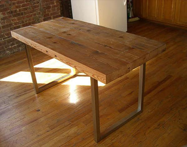 diy recycled building wood table