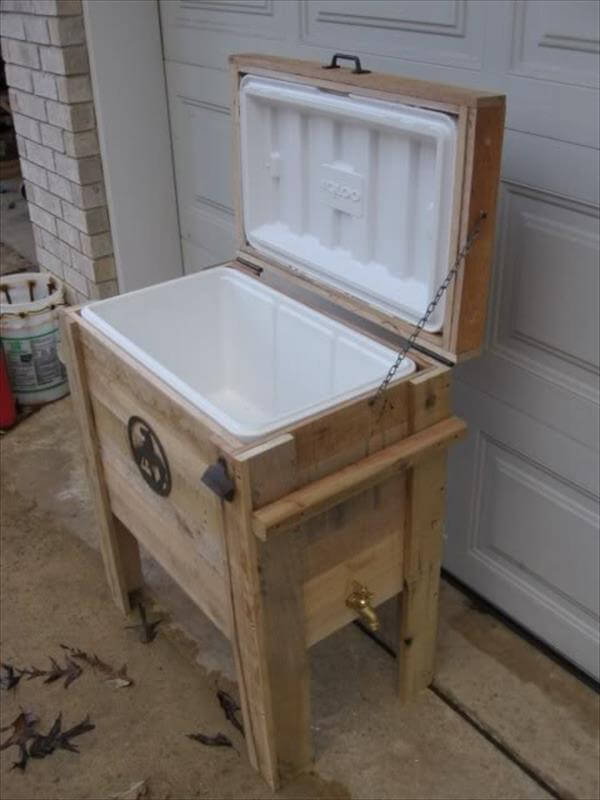 diy recycled cooler idea for easy hand made