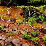 diy recycled easy idea bike rim trellis