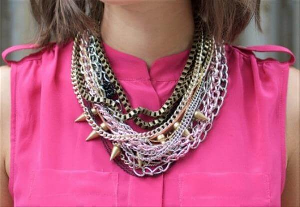 diy recycled nice ang good look necklace
