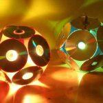 DIY recycled cd lights for decor idea