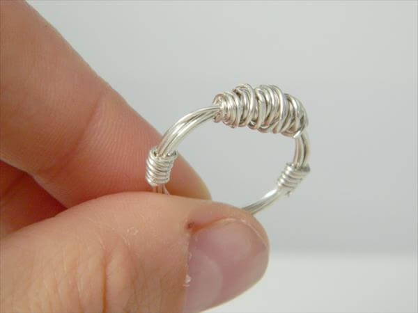diy recycled wire ring design aand pattern