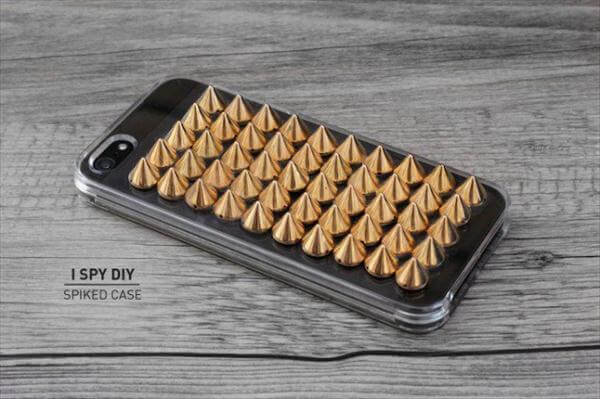 copper spikes studded phone case