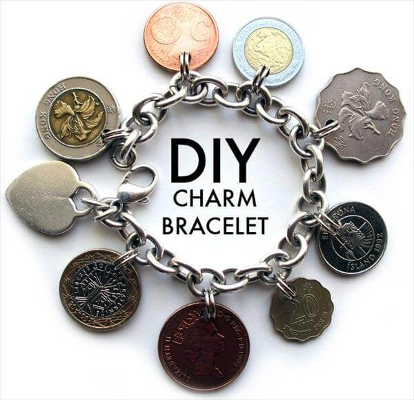 diy metal chain charm bracelet