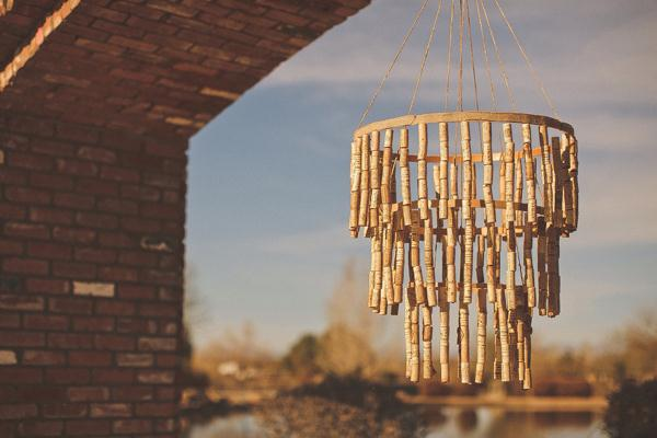 reclaimed cork wind chime