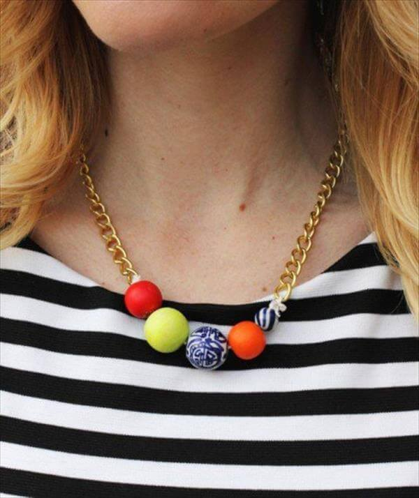 diy recycled beautiful necklace