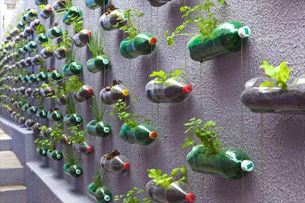 diy recycled easy handmade idea for bottle planters