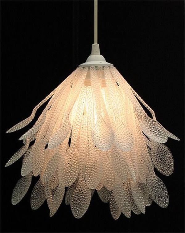 plastic spoon pendant lamp