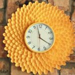 diy plastic spoon flower wall clock