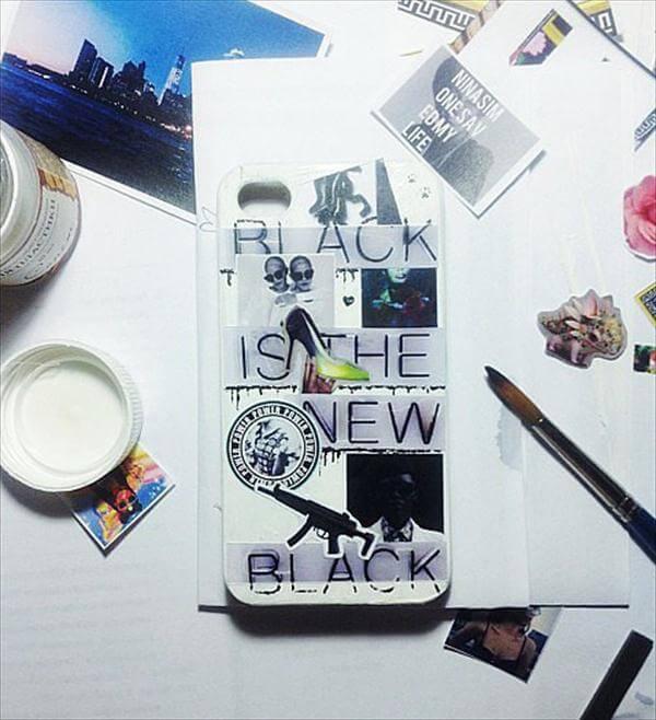 diy magazine cutouts phone case
