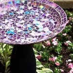 diy easy hand made recycled mosaic birdbath