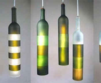 repurposed glass bottle light lamps