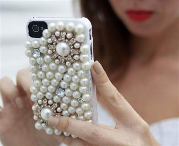 celebrity inspired pearl phone cover