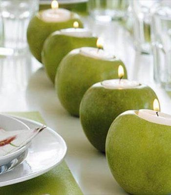 upcycled fresh apple candles