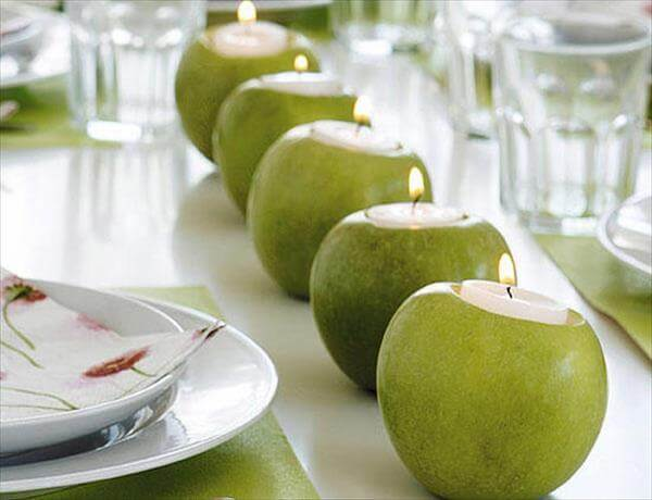 diy fresh apple table decor