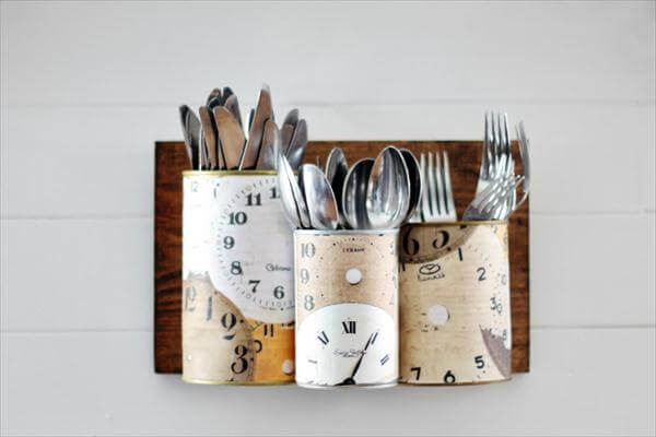 diy kitchen wall cutlery organizer