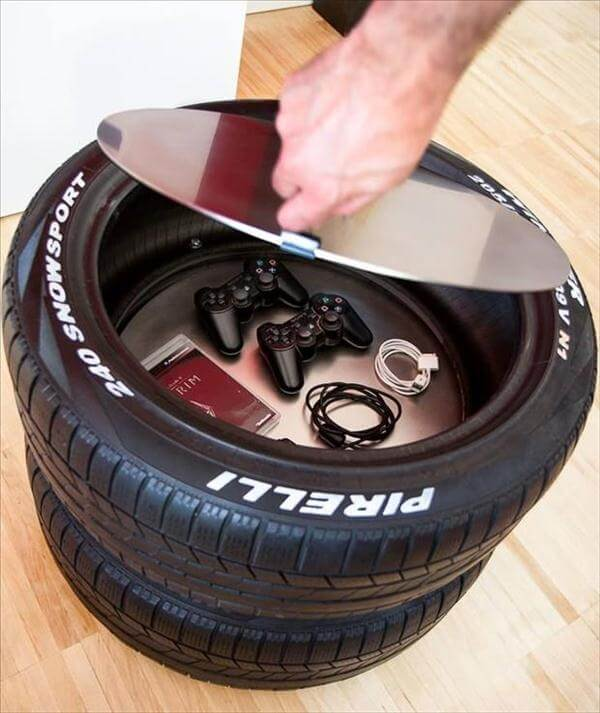 vehicle tire storage project