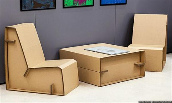 creative cardboard living room furniture