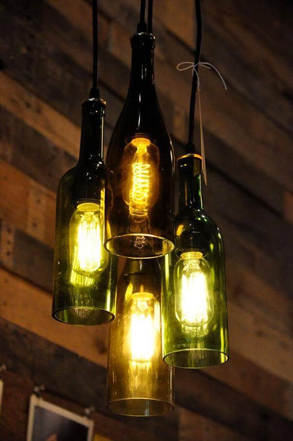diy glass bottle pendant lights