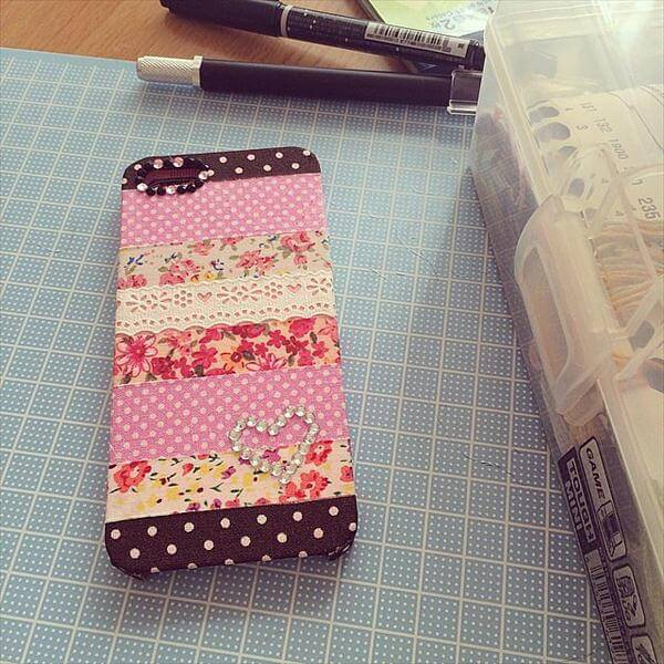 handmade wahi tape and lace phone case