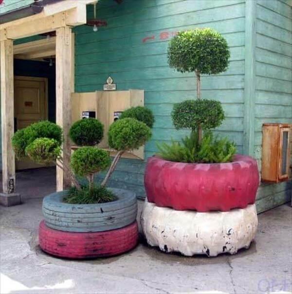 tires garden idea