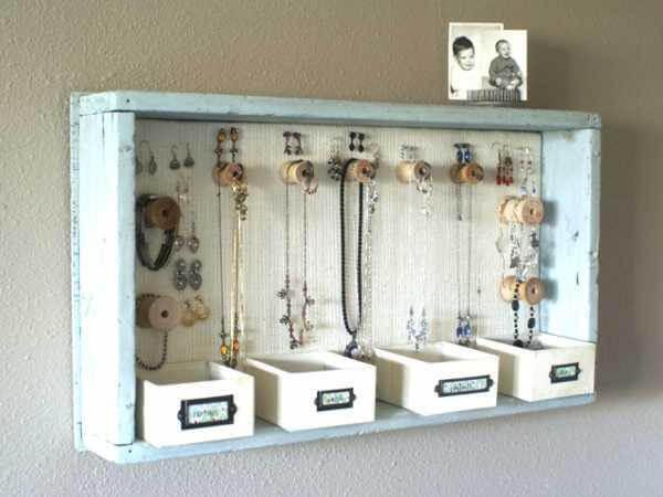 diy creative jewelry box organizer