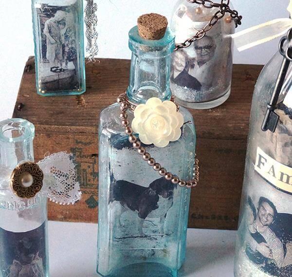 diy nice bottle jars photo frame