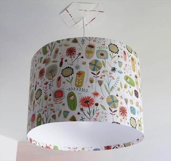 fabric lampshade idea