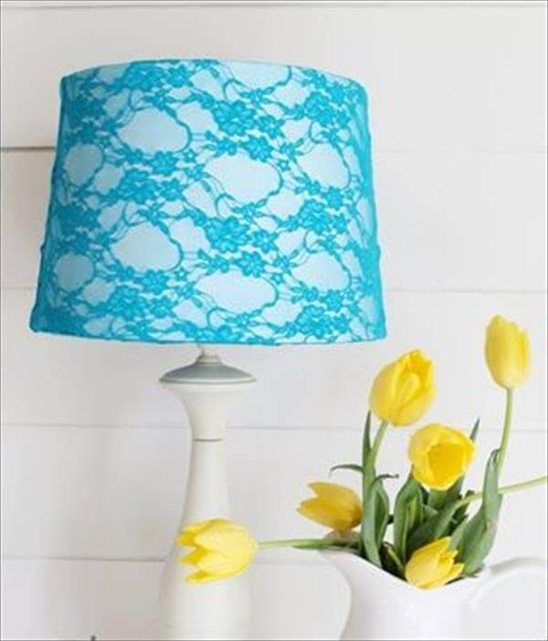 old shirt into lampshade design