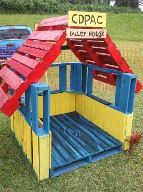 recycled recycled pallet colorful housepallet colorful house