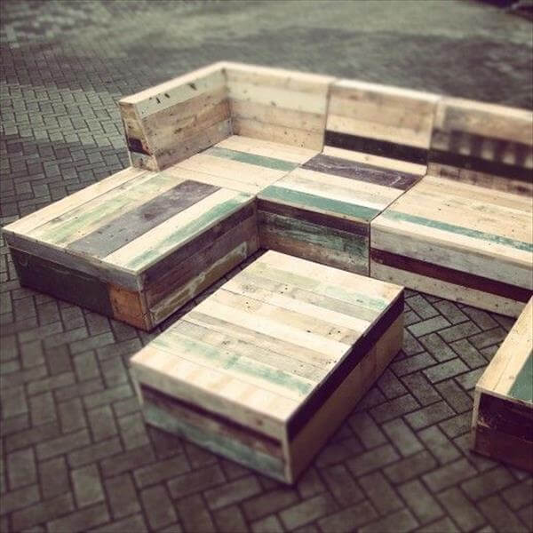 handmade pallet garden furniture